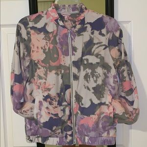 Juicy couture bomber floral bomber jacket